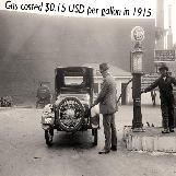 Cost to Fill Up Gasoline in 1915