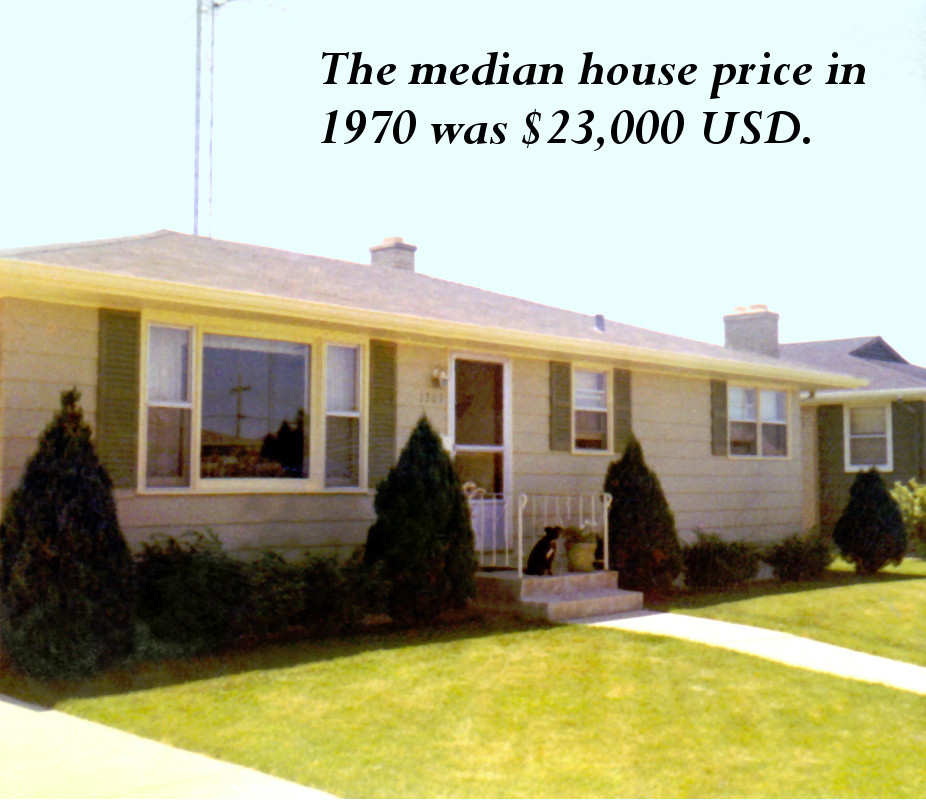 Median house price in 1970 vs. 2010