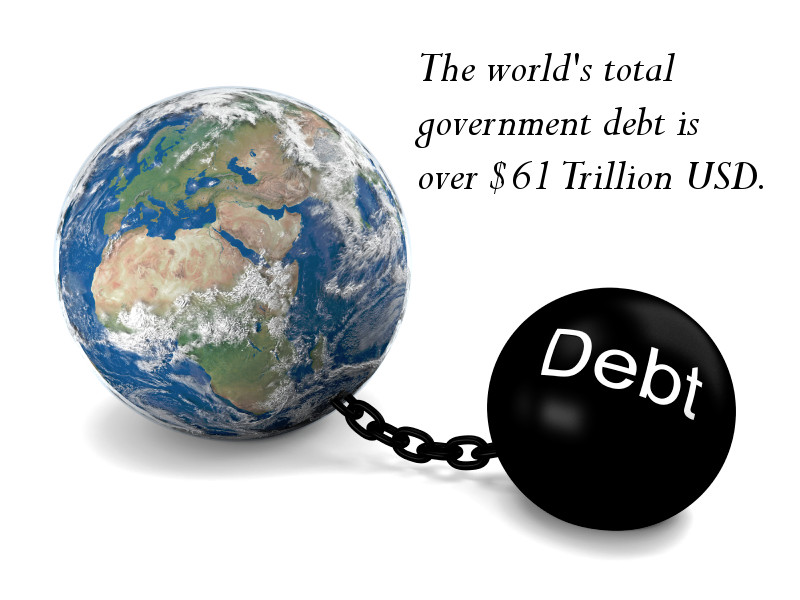 The governments of the world are in debt
